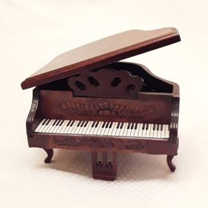 Miniature Wooden Grand Piano Home Decor